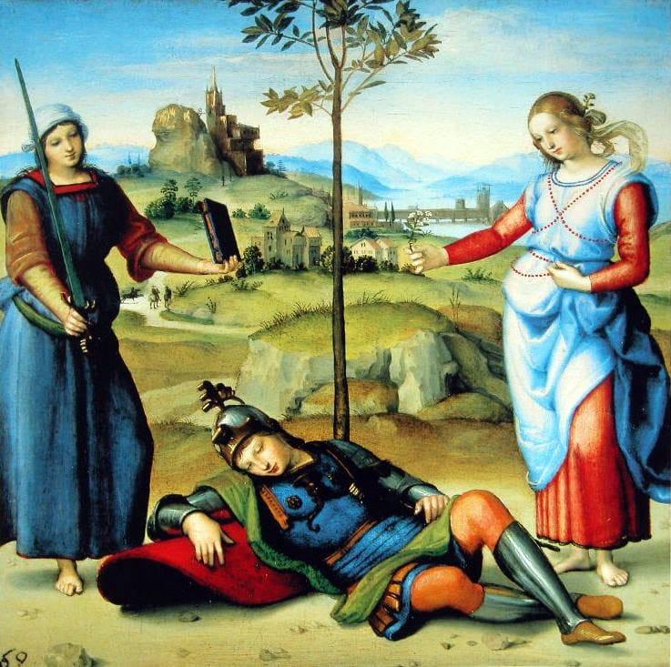 Raffaello_1504 A lovag almaGL