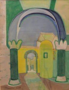 Út a faluba 1994 - 66x51cm - akvarell, papír