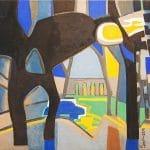 Françoise GILOTLemenő nap fénye a nárciszokon (2006 - 35x45cm - olaj, vászon)