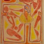 Lapos dombormű 1981 - 76x56cm - monotípia
