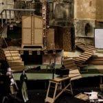 William_Kentridge_Maqueta para la ópera Wozzeck, 2016. Varios materiales. 135 x 220 x 183 cm. Colección particular