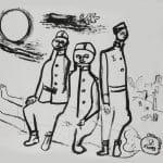 Ámos Imre: Katonák Szentendrén, 1940