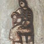 Barcsay Jenő: Ülő nő, 1957