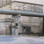 Bunker, olaj - vászon, 40x50 cm, 2014