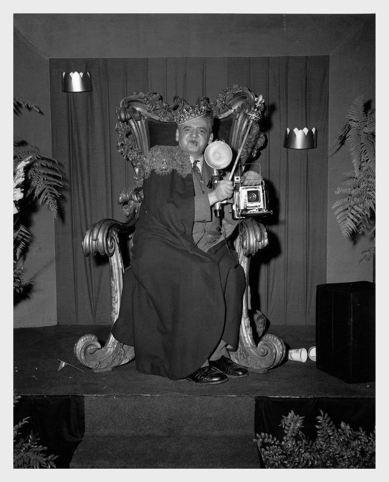 Ismeretlen fotográfus, Weegee portréja, 1956 © Courtesy Institute for Cultural Exchange, Germany 2018