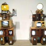 Nam June Paik munkái Tate Modern London 2020 Mobilfotó Zopán