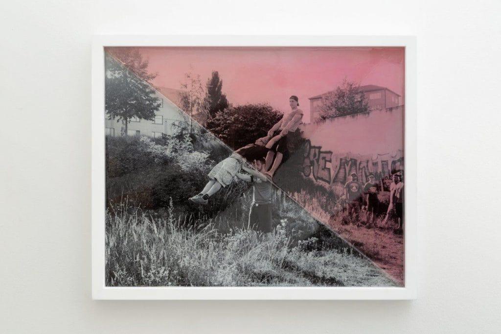 Kudász Gábor Arion: Queer Anarchism - Anarcho Feminism, 2020 59x50 cm, inkjet print, epoxy resin, wood (Fotó: Kudász Gábor Arion)