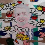 drMáriás: Dr. Kásler Miklós tavirózsák között Roy Lichtenstein műtermében akril és grafit vásznon