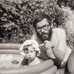 1975 - Ági lányával
