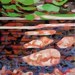 Koncz Gábor: Kinn-benn. 2020, olaj, vászon, 70×50cm