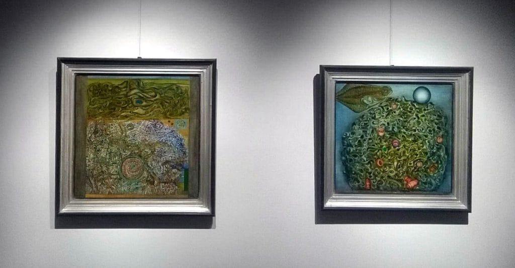 A mezők termékenysége és az 1951-es festmény olaj, vászon 73 x73,5 cm és 66 x 69 cm