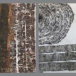 Bálint Ádám: Fekete tea Fekete tó vegyes technika 2×100×160cm.jpg